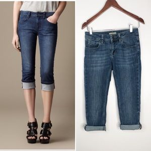 Burberry Buckingham Rolled Crop Jeans